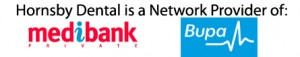 Hornsby Dental is a Network Provider of Medibank and BUPA